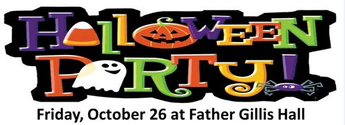 Halloween Party on Friday, October 26th
