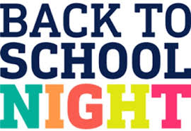 Back to School Night is on Thursday, September 17th