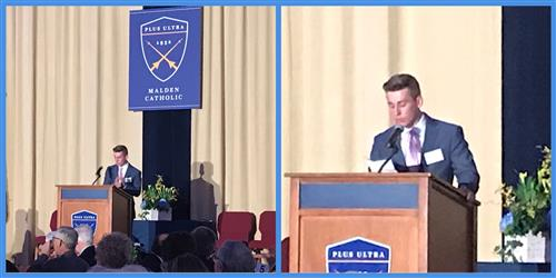 SJS Alum Nick Scarpello Delivers Keynote at Malden Catholic Gala