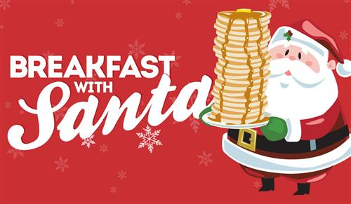 Breakfast with Santa on Sunday, December 9th